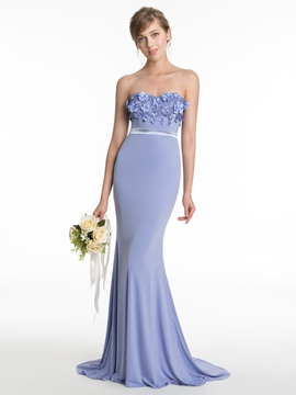 Sweetheart Flowers Mermaid Bridesmaid Dress & colorful Bridesmaid Dresses