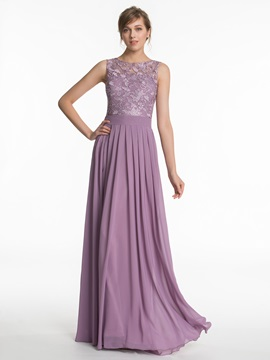 Beautiful Long Chiffon Bridesmaid Dress
