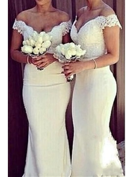 Lace Off the Shoulder Mermaid Bridesmaid Dress & Bridesmaid Dresses online