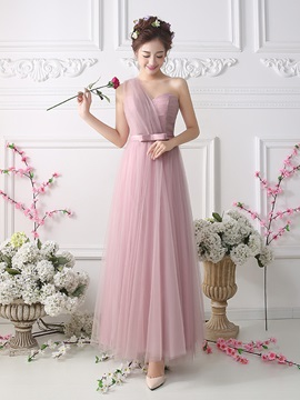 Ankle Length A-Line Sweetheart One Shoulder Bridesmaid Dress & Bridesmaid Dresses for sale