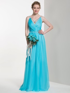 Elegant Spaghetti Straps Floor Length Bridesmaid Dress & colorful Bridesmaid Dresses
