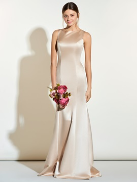 High Quality Jewel Sheath Long Bridesmaid Dress