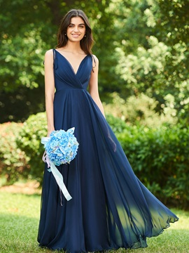 Straps V-Neck Backless Bridesmaid Dress & Bridesmaid Dresses 2012