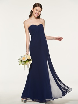 Pure Strapless Sheath Bridesmaid Dress & romantic Bridesmaid Dresses