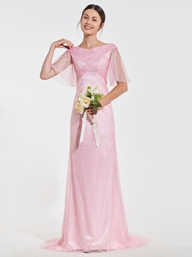Long Bridesmaid Dress with Sleeves