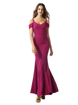 Mermaid Straps Open Shoulder Evening Dress 2020