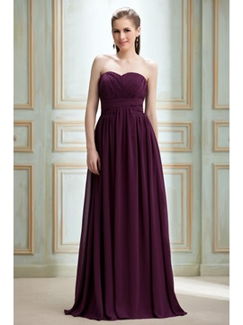 Draped A-line Floor-Length Sweetheart Nadya's Prom/Formal Dress & vintage Bridesmaid Dresses