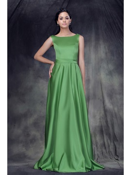 Designer A-Line Floor-Length Jewel Neckline Anderae's Bridesmaid Dress & discount Bridesmaid Dresses