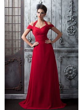 Pleats A-Line Halter Long Bridesmaid Dress & Bridesmaid Dresses on sale