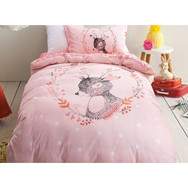 Wannaus Deer Pattern Purified Cotton Princess Style 3-Piece Kids Duvet Covers/Bedding Sets