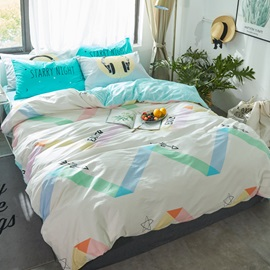 Wannaus Arrows Printed Cotton White Kids Duvet Covers/Bedding Sets