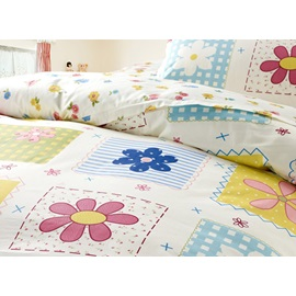 100% Cotton Cute Flowers Printing Kids Bedding Sets