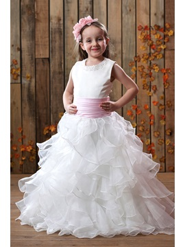 Glamorous A-line Ankle-length Pleats Sash Flower Girl Dress & Flower Girl Dresses on sale