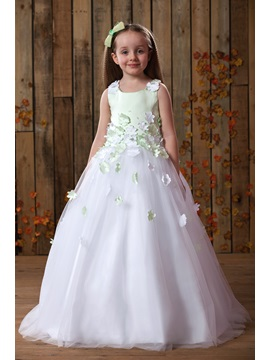 Dramatic Straps Appliques Tulle Flower Girl Dress & Flower Girl Dresses 2012