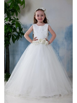 Simple Style A-Line Scoop Flower Girl Dress & Flower Girl Dresses under 100