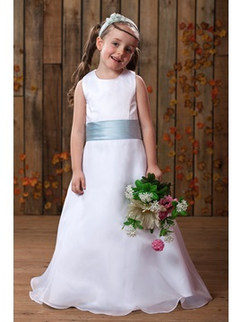 A-line Scoop Ankle-length Sash Flower Girl Dress & fairytale Flower Girl Dresses