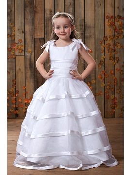 Lovely A-Line Straps Bowknot Flower Girls Dress & Flower Girl Dresses under 500