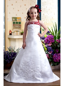 A-Line Spaghetti Sleeveless Flower Girl Dress & attractive Flower Girl Dresses