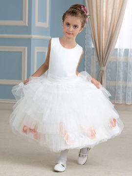 Cute Ruffles Floral Princess Flower Girl Dress & fairytale Flower Girl Dresses