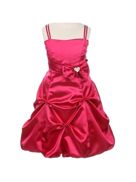 Cute A-line Tea-length Spagetti Straps Ruched Bowknot Flower Girl Dress & unusual Flower Girl Dresses