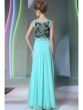 Morden Scoop Neckline Beading Lace Floor-Length Evening/Prom Dress