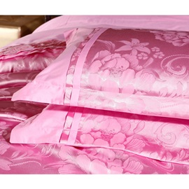 Luxury Pink Print Pure Cotton 4-Piece Bedding Sets