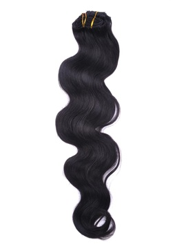 New Arrival Wavy Human Hair 7PCS Clip in Human Hair Extensions