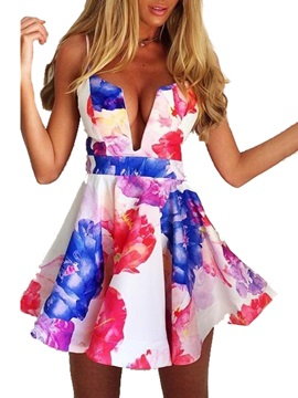 New Sensual European Print Women Dress