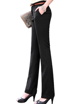 Slimming Cotton Blends Straight-Leg Pencil Pant