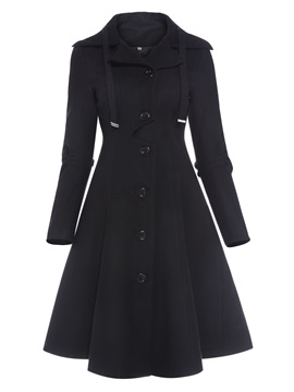 Stylish Asymmetrical Hem Trench Coat
