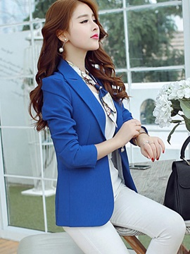 Fashion Style Plain Lapel Slim OL Women's Blazer