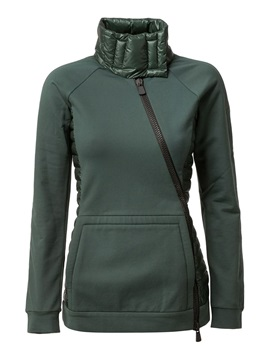 Turtleneck Side Zipper Kangaroo Pocket Hoodie