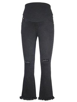 Black Hole Boot Cut Maternity Jeans