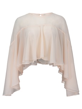 Ladylike Round Neck Falbala Women's Blouse