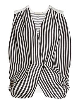 V-Neck Stripe Sleeveless Tank Top