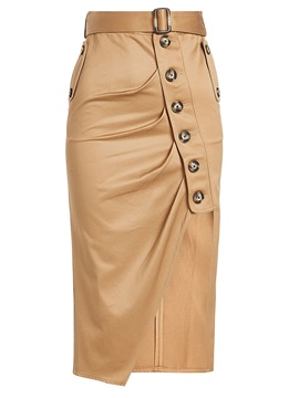 Asymmetrical Mid-Calf Women's Fall Skirt