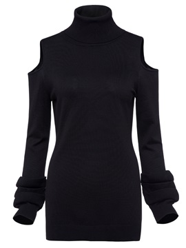 Slim Long Sleeve Pullover Women's Knitwear