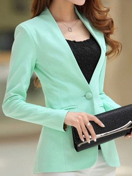 Tidebuy Slim Fit V-Neck Women's Long Sleeve Blazer