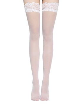 Plain Lace Thigh-High Stocking