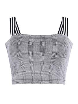 Plaid Single Short Women's Tank Top