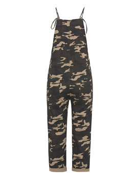 Loose Camo Strap Women's Harem Overalls
