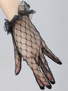 Sexy Accessories Lace Hollow Short Gloves