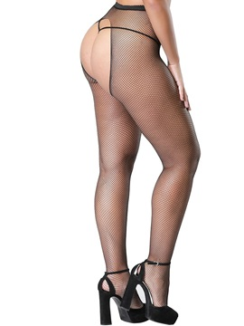 Open Crotch Small Fishnet Pantyhose