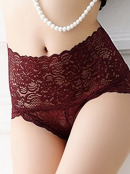High-Waist Lace Seamless Plus Size Panty