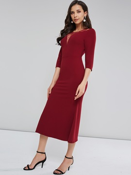Long Sleeve Mesh Women's Maxi Dress