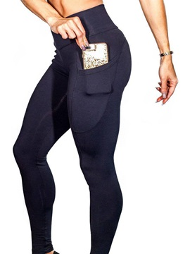 Anti-Sweat Pockets Solid Yoga Leggings