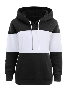 Color Block Regular Women's Hoodie