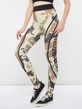 Casual Camouflage Print Thin Women's Leggings