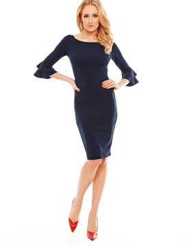 Three-Quarter Sleeve Wear to Work/Workwear Women's Bodycon Dress
