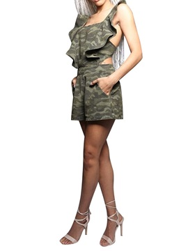Shorts Camouflage Loose Women's Jumpsuit